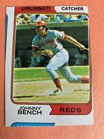 1974 Topps Johnny Bench #10 Cincinnati Reds with MISCUT & PRINTER CIRCLE ERROR