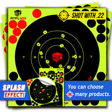 50Pack 8'' Bullseye Super Splatter and Sefl Adhesive shooting Target & Pasters