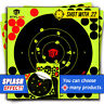 50Pack 8'' Bullseye Super Splatter and Sefl Adhesive shooting Target & Pasters