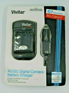 Vivitar CBC-NB2 CAR BATTERY CHARGER FOR NB-2L OR BP-2F12 BATTERIES