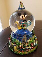 Disney's Mickey Mouse 2000 Millennium Musical Snowglobe Celebrate The Future