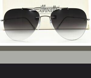 Silhouette Rimless Aviator Sunglasses Rx-able Prescription Ready 8667 60 6235
