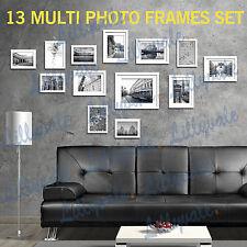 Large Multi Picture Photo Frames Wall Set 13pcs 125cm X 60cm Art Deco Home Gift White