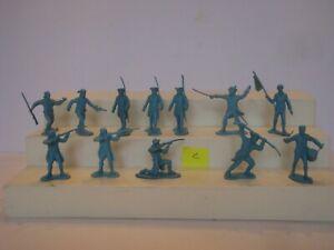 Marx Revolutionary War/ Johnny Tremain / Set  of 12 54mm Colonial Infantry ( C )