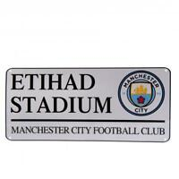 Manchester City FC Official Crested Metal Street Sign Etihad Stadium Gift