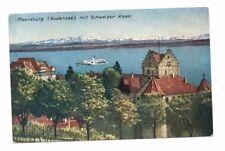 Germany - Meersburg (Bodensee) Mit Schweizer Alpen - Postcard Franked 1954