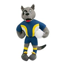 125143 NORTH QUEENSLAND COWBOYS NRL TEAM MASCOT PLUSH TOY WITH FOOTBALL 27CM