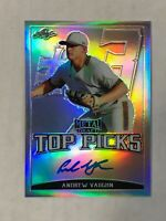 ANDREW VAUGHN 2019 Leaf Metal Picks BLUE INK RC SP AUTO 32/50 REFRACTOR! INVEST!