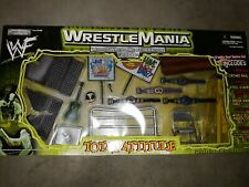 WWF WRESTLEMANIA TOTAL ATTITUDE ACCESSORY PLAYSET JAKKS WWE 2000 Grapple Gear
