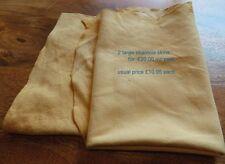 2 grandes gamuza de calidad superior de cuero pieles Gamuza por £ 20 incluso gastos de envío gratis