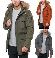 Cynical Aspen Faux Fur Hooded Parka Jacket Men's Warm Heavy Padded Winter Coat