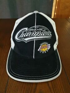 Los Angeles Lakers 2002 NBA Champions Official Reebok Fitted Cap Hat - Size L/XL