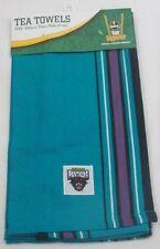 PACK OF 2 PENRITH PANTHERS NRL TEAM LOGO TEA TOWELS 50cm x 70cm
