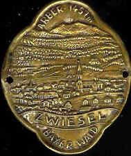 Zwiesel Bayer Wald hiking medallion stocknagel Badge Mount G1269