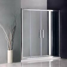 1700x800mm Sliding Shower Enclosure Screen Glass Cubicle Double Door+Stone Tray