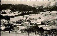 Steibis Bayern 1957 Allgäu Alpen Berge Hochgrat Rindalphorn Winter Schnee Häuser