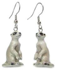 Je063 - Meerkat Earrings - Surgical Steel Porcelain Dangle - little Critterz