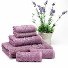 Set of 6 Towels Turkish 100% Cotton , 1 Bath, 1 Hand Towel, 4 Washcloth DAMSON