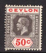 George V (1910-1936) Postage Ceylon Stamps