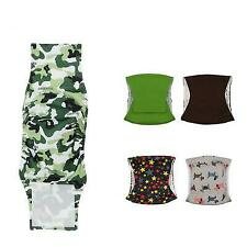 Male Dog Cat Belly Band Diaper Underwear Panties Reuse Washable Potty Train Pet