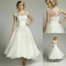 Womens Cap Sleeve Lace Formal Short Wedding Tutu Dress Bridal Party Prom Gown