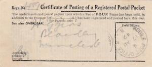 GB 1949 CERTIFICATE OF POSTING MOBILE POST OFFICE 2 for BATH +WEST SHOW
