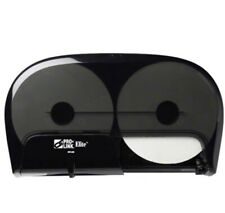 Pro-Link Elite T80490 2-Roll Toilet Tissue Dispenser Translucent Black
