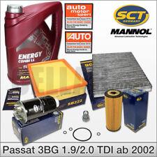 VW Passat 3BG 1.9 & 2.0 TDI ab Bj. 03/2002: Inspektionspaket Filter + 5L 5W30 Öl