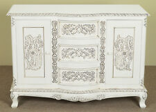 120 cm white SIDEBOARD commode rococo baroque mahogany solid wood 78307