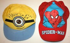 Kids' baseball caps 2 pieces Minions Spider-Man 7-12 years NEXT TU