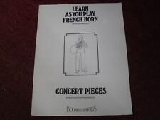 Learn As You Play French Horn Piano Accompaniment