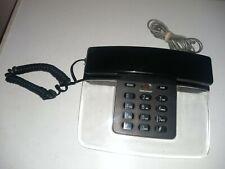 TeleConcepts Landline Corded Telephone. Black/Clear Base Lucite