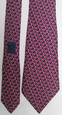 AUTENTICO cravatta Cravatta di HERMES 100% seta TBEG vintage