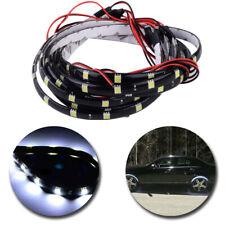 """White 4pcs 24"""" Car LED Wheel Neon Glow Flexible Soft Strip Lights Fender Lamps"""