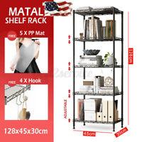 US 5 layers Metal Kitchen Rack Holder Storage Shelf Organizer Net Hook PP Mat