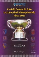 2017 GAA Galway v Sligo - U21 EirGrid Connacht Football Final Programme