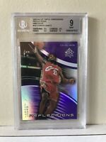 2003-04 UD TRIPLE DIMENSIONS REFLECTIONS- AMETHYST #10 LEBRON JAMES ROOKIE BGS 9