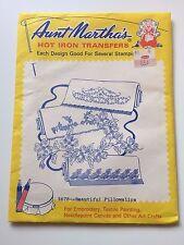 3678 Beautiful Pillowslips Aunt Martha's Hot Iron Transfer Needlework