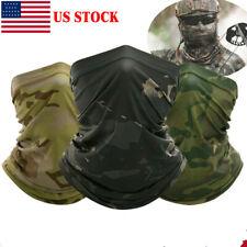 Camo Neck Gaiter Bandana Balaclava Face Masks Cooling Face Cover Scarf Ice Silk