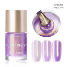 9ml NICOLE DIARY Nail Polish Water Based Pearl Purple Nail Art Varnish Polish