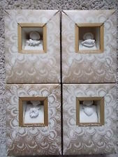 Lot 4 Vintage Margaret Furlong 4� Angels 1983-86 Holly Dove Wreath Heart w/Boxes