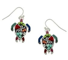 Sea Turtle Earrings  Silver Plated Gift Boxed Sea Life Jewelry  Fast Shipping