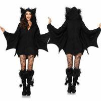 Adult Women Vampire Bat Outfits Halloween Fancy Dress Cosplay Jumpsuit Costume