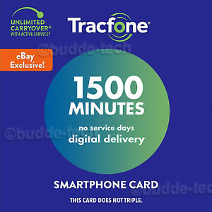 TracFone Refill 1500 Minutes Only - Service Plan Card Prepaid (no service days)