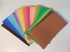 20 ASSORTED 3X6 FOAM COLORED 2MM SHEET CRAFT FLY TYING FOAM MATERIALS