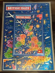 Vintage JR JIGSAW PUZZLE MAP- BRITISH ISLES (500pcs) VGC. Complete.See Photos
