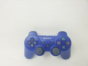 Genuine OEM Sony PlayStation 3 PS3 Sixaxis DualShock 3 Controller Blue Tested
