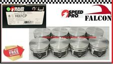 Chevy GM 7.4/454 SPEED PRO Hypereutectic Coated Skirt Flat Top Pistons Set/8 STD