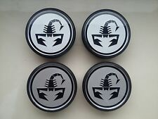 4 X Neuf Origine FIAT 500 ABARTH roue en alliage blanc 50 mm Centre Cap