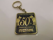 ANIMAL HUMANE SOCIETY of the UNITED STATES 50th ANNIVERSARY BRASS KEYCHAIN 1.5""